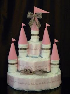 bolo de fralda castelo