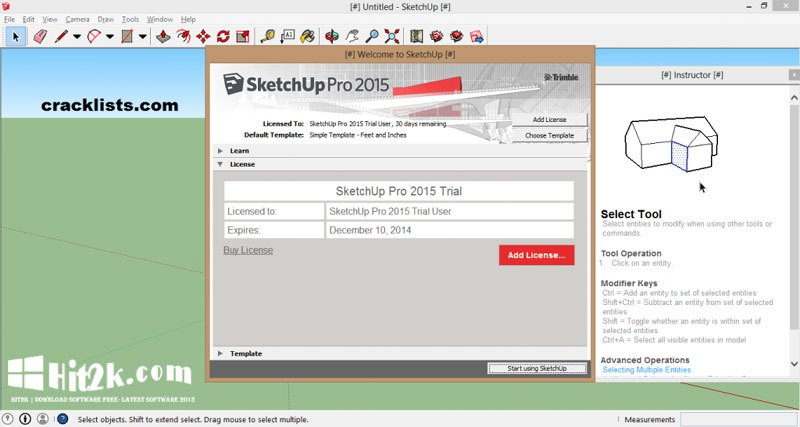 Sketchup 2016 Pro Crack And Key Free Download