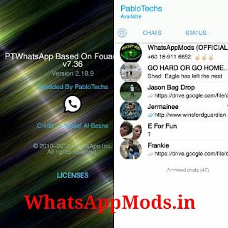 PTWhatsApp v7.36 WhatsAppMods.in