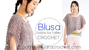 Blusa Crochet con Cuadros Florales 🌸