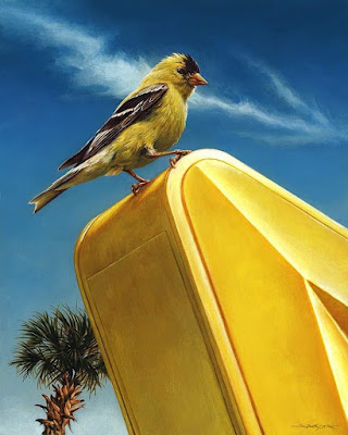 Designer Con 2019 Exclusive Animal Style (American Goldfinch) Fine Art Giclee Print by Jason Edmiston