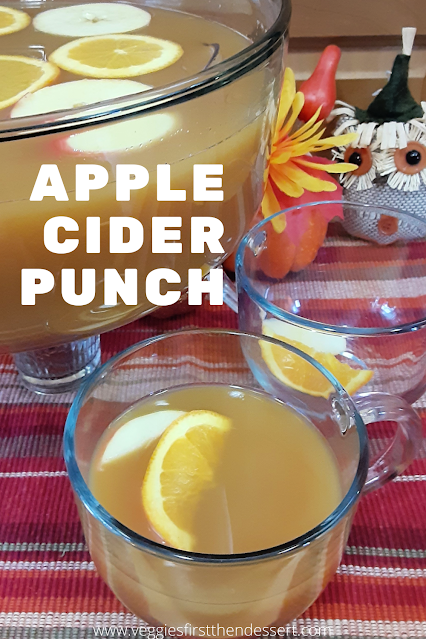 Apple Cider Punch - Veggies First Then Dessert #OurFamilyTable