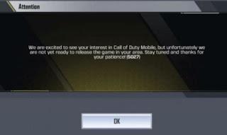 cara mengatasi Call of Duty Mobile Error 5027