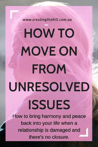How to bring harmony and peace back into your life when a relationship is damaged and there's no closure. #relationships