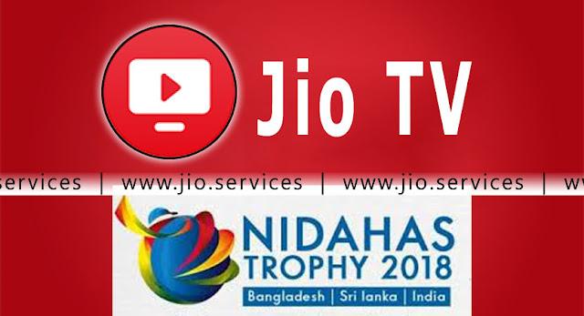Jio TV Nidahas Trophy 2018 - Choose 5 Camera Angles, Set