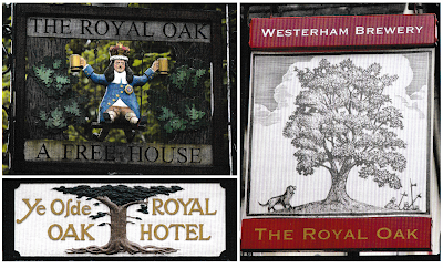 """Royal Oak"" signboards from pubs"