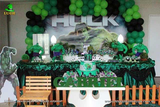 Hulk - Decoração de festa tema incrível Hulk aniversário infantil masculino