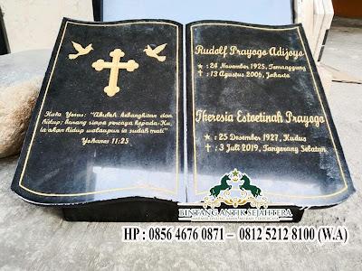 Model Nisan Buku Granit Kristen