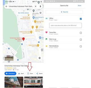 fitur simpan offline pada google maps
