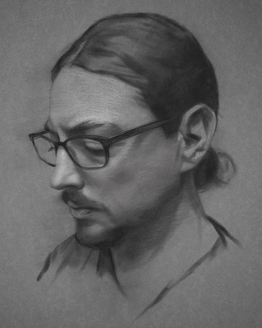 10-Artists-Selfie-David-Kassan-Charcoal-Portrait-Drawings-of-Ordinary-People-www-designstack-co