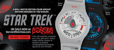Star Trek U.S.S. Enterprise Vannen Artist Watch Variants by Tom Whalen