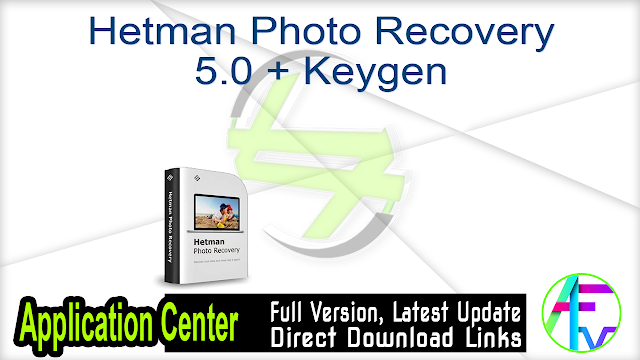 Hetman Photo Recovery 5.0 + Keygen