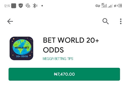 Download Bet World 20+ Odds Apk
