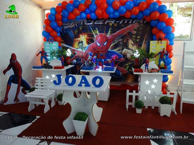 Decoração tema Homem Aranha para festa de aniversário - Jacarepaguá RJ