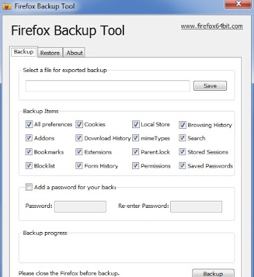 COME FARE IL BACKUP DI FIREFOX SU WINDOWS 7