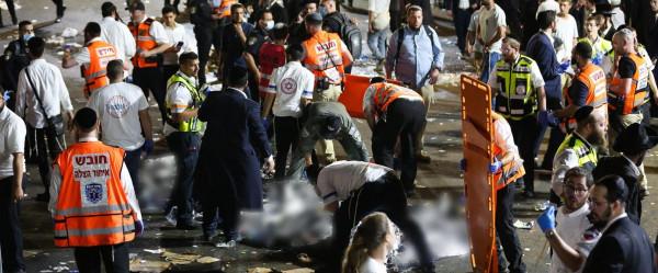 بالصور والفيديو.. مصرع 45 من المستوطنين والمتدينين وإصابة 100 آخرين بحادث تدافع قرب صفد فجر اليوم
