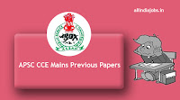 APSC CCE Mains Previous Papers
