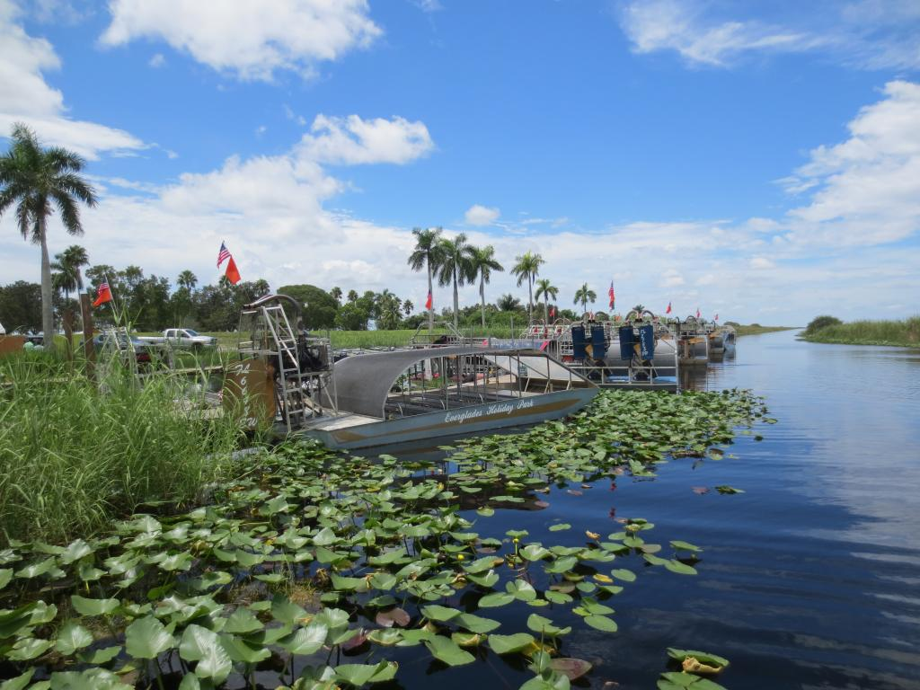 Boat tours at Everglades National Park.