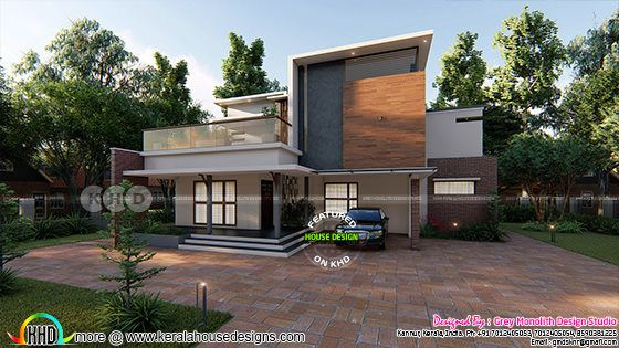 2267 square feet 3 BHK contemporary home plan