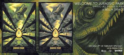 Jurassic Park Screen Print by Bella Grace x Vice Press