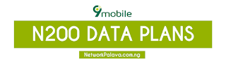 9mobile etisalat 200 naira data plan