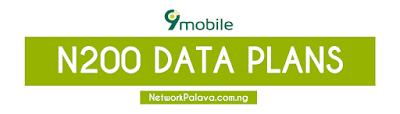 9mobile etisalat 200 naira data plan