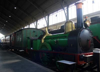 Locomotoras de vapor. Trenes antiguos. Museo del Ferrocarril de Madrid