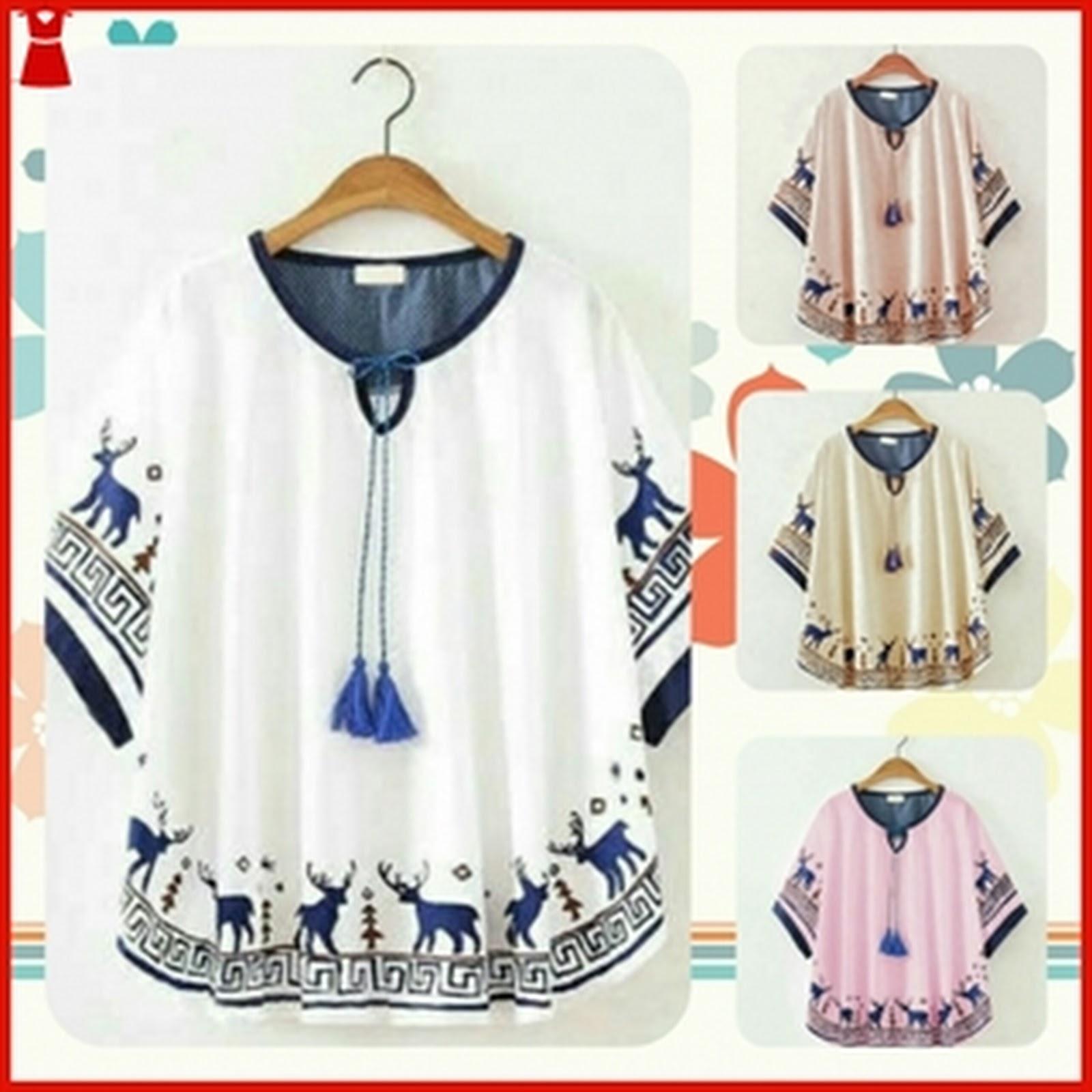 Setelan Baju Blouse Tunik Wanita Ukuran Big Size Bj2263 c5fee4d4cb