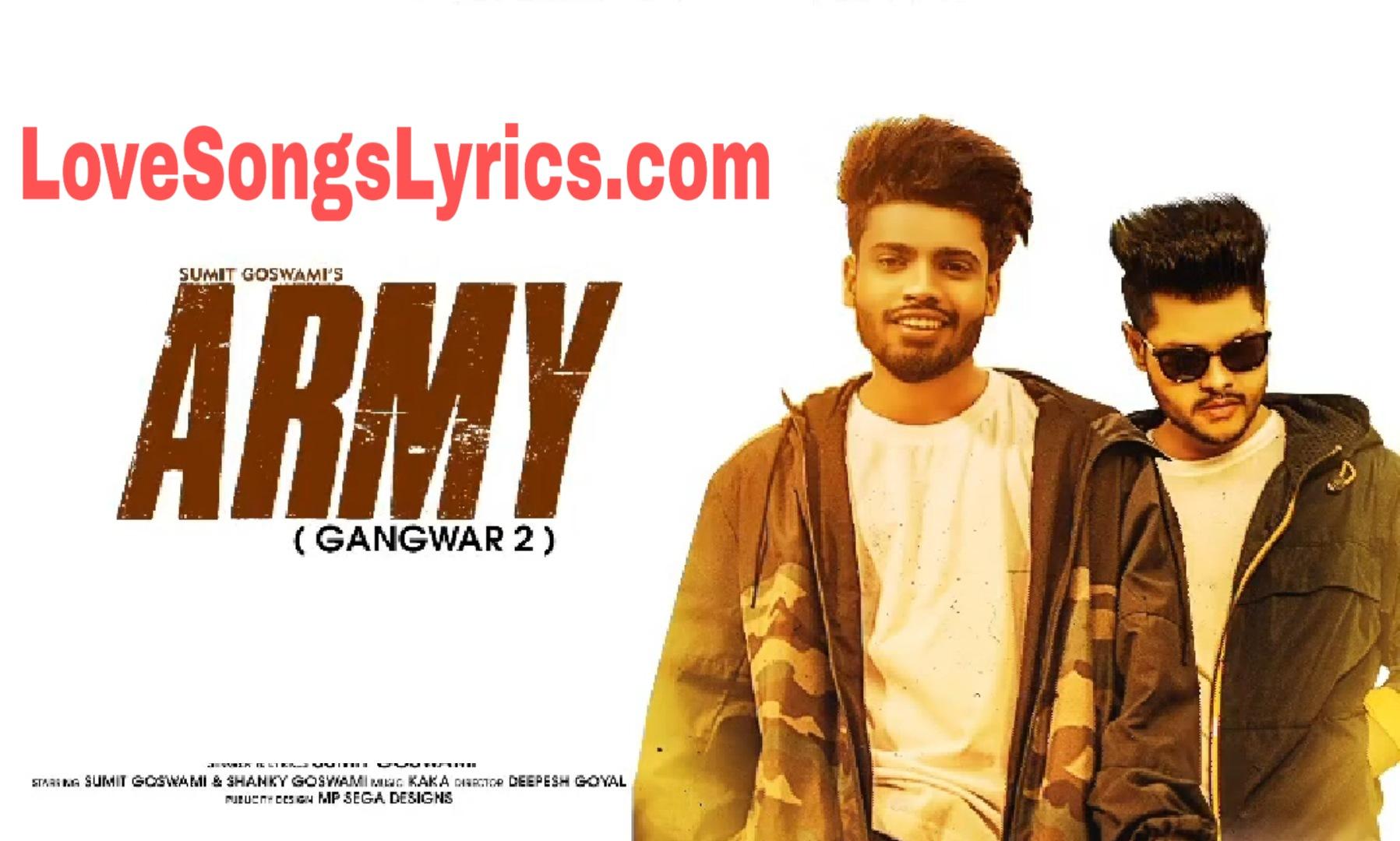 Feeling Proud On Indian Army Lyrics - Sumit Goswami