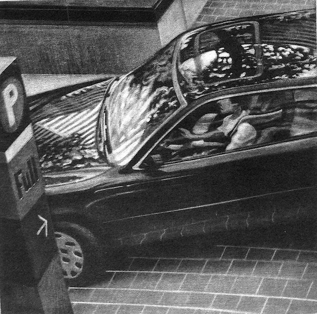 Art Werger 2002, driving into a parking lot