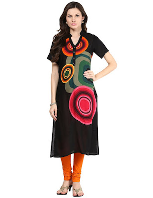 Shakumbhari V-Neck Half sleeve Calf-length Straight fit Woman Kurta