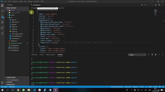 Advanced React with TypeScript 2020 Course: Build Sudoku App