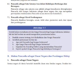 Aktivitas 1.1 Memahami arti dan Fungsi Pancasila PKN Kelas 8