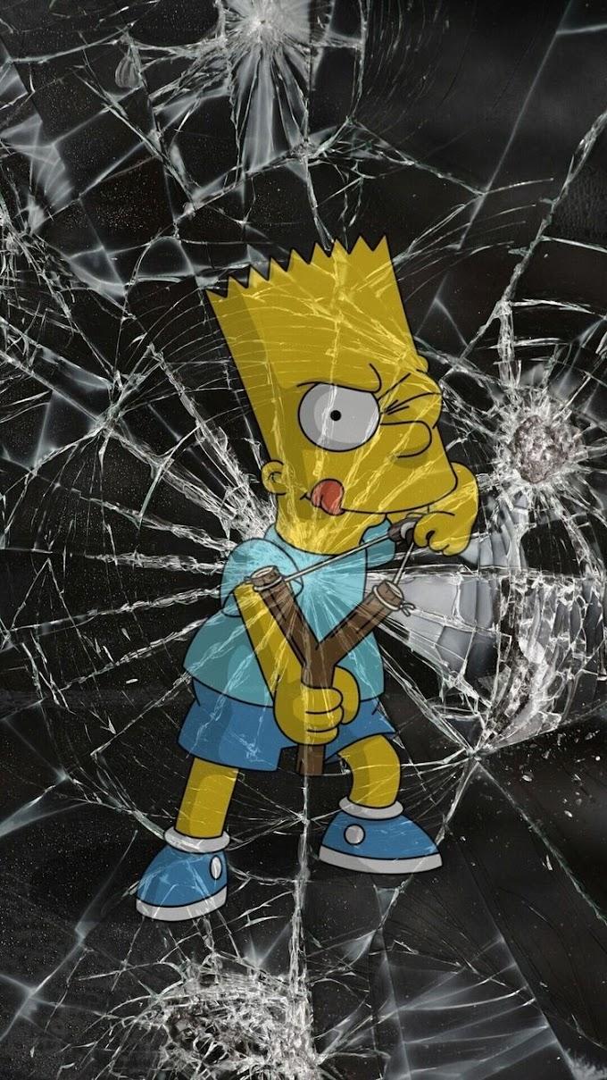 Tela Quebrada de Celular Bart Simpson