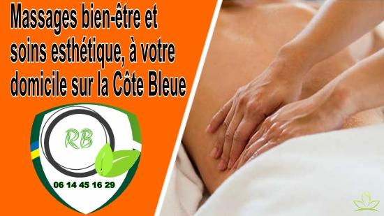 Massages bien-être et soins esthétique, à votre domicile sur la Côte Bleue;