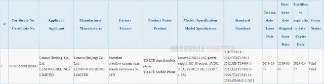 Lenovo Z6 Peroleh Sertifikasi 3C