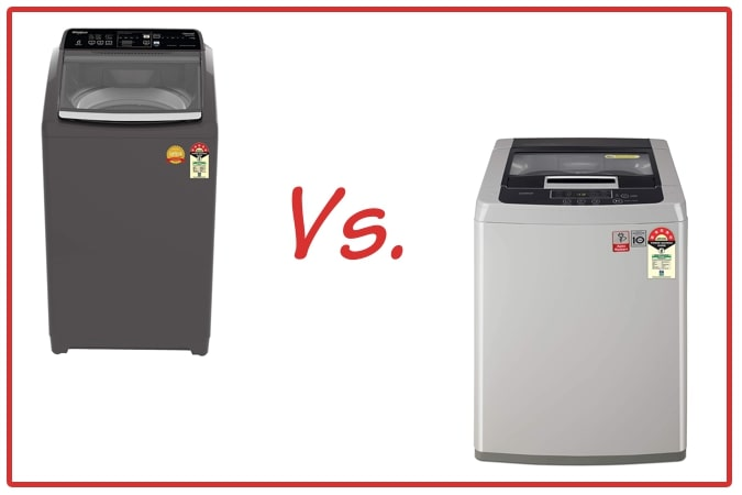 Whirlpool Royal Plus (left) and LG T70SKSF1Z (right) Washing Machine Comparison.