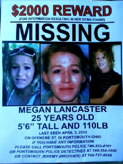 OH - MEGAN LANCASTER: Missing from Portsmouth, OH - 3 April