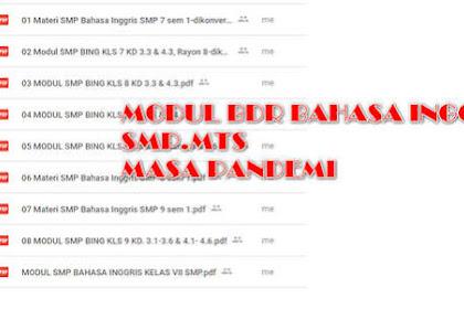 Modul BDR Bahasa Inggris Kelas 7, 8, 9 SMP Semester 1
