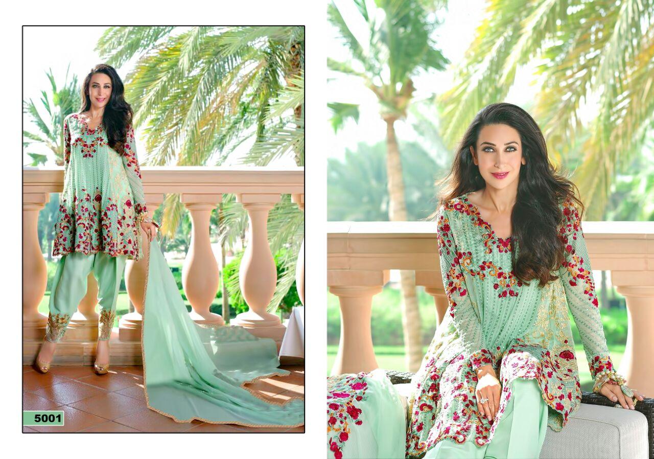 Meenaz- Very Beautiful Colors Of Georgette Salawar Suit