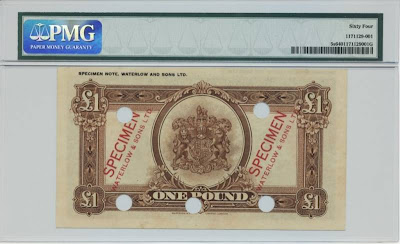 British notes Bermudian pound bill