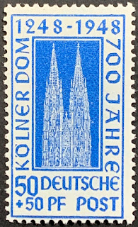 Germany British/US Zone 1948 Cologne Cathedral