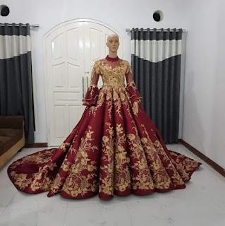 penjahit kebaya pengantin modern