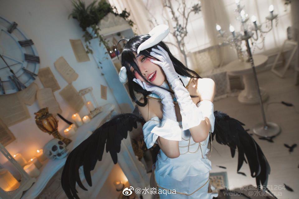 Cosplay Albedo in Overlord by coser 水淼aqua - BlogFanArt