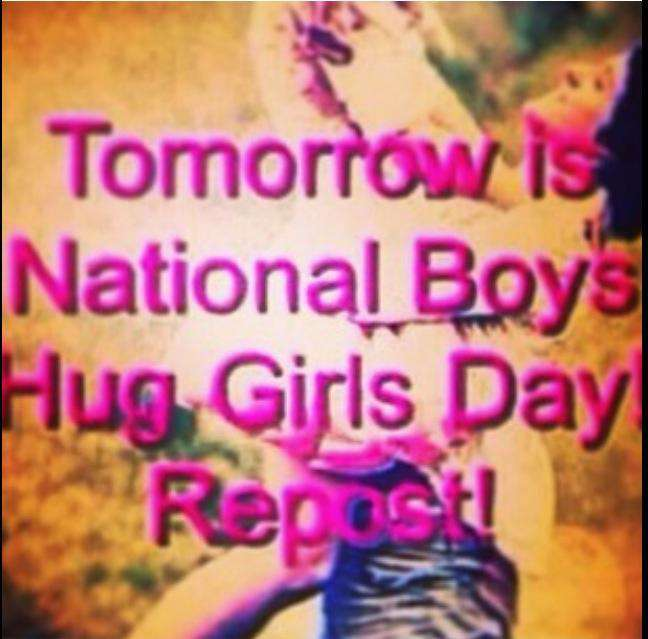National Girl Hug Boy Day Wishes Images