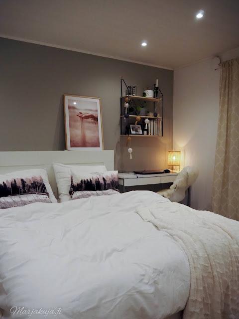 makuuhuone sisustus pehmeä sänky petaus petivaatteet vallila jotex