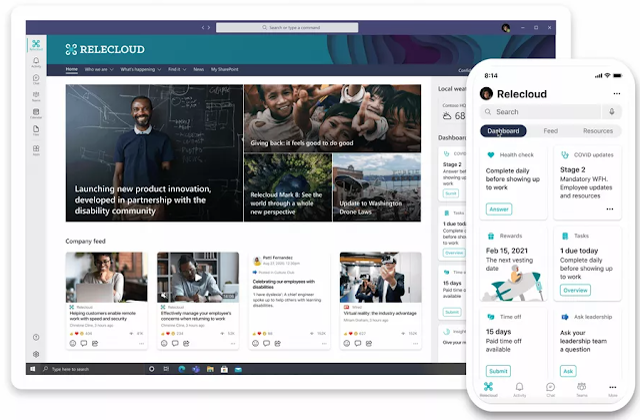 Microsoft divise Viva en 4 modules spécifiques : les connexions, les insights, les sujets et l'apprentissage.