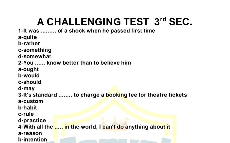 أقوى امتحان لغة انجليزية للصف الثالث الثانوى 2021 مع نموذج الاجابة من كتاب مارفيلز Marvels