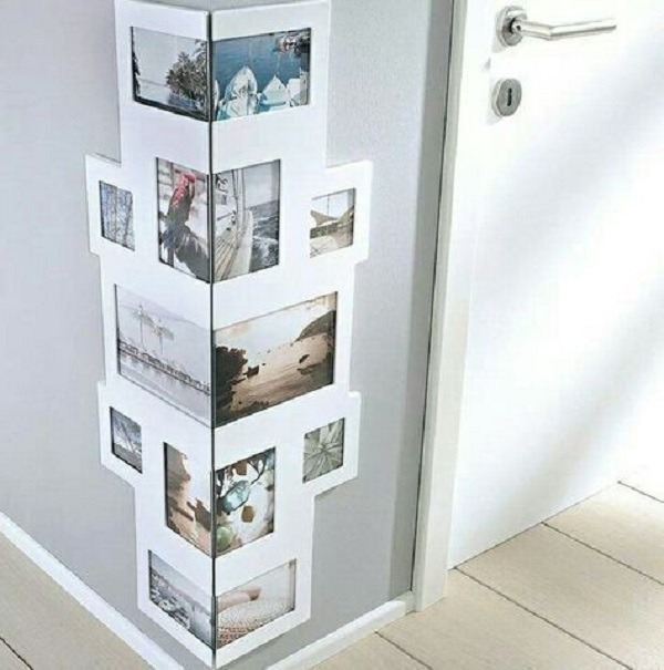Insert photo frame in lost corners in the house