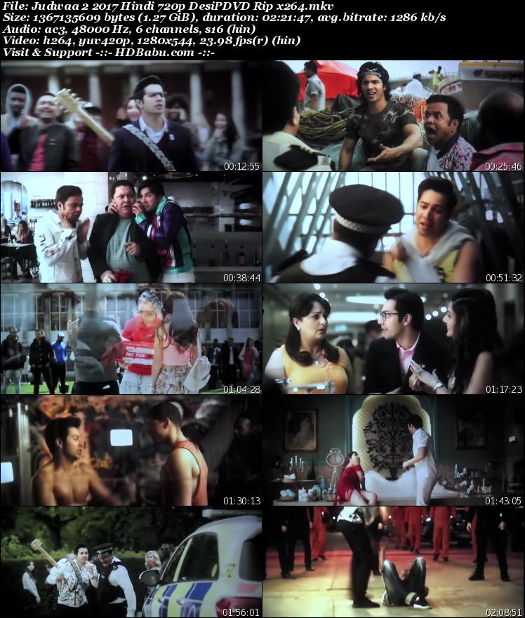 Judwaa 2 Full Movie Download, Judwaa 2 Full HD MKV MP4 Download Free 720p Bluray, Judwaa 2 2017 Hindi Movie Direct Torrent Single Download Link Free
